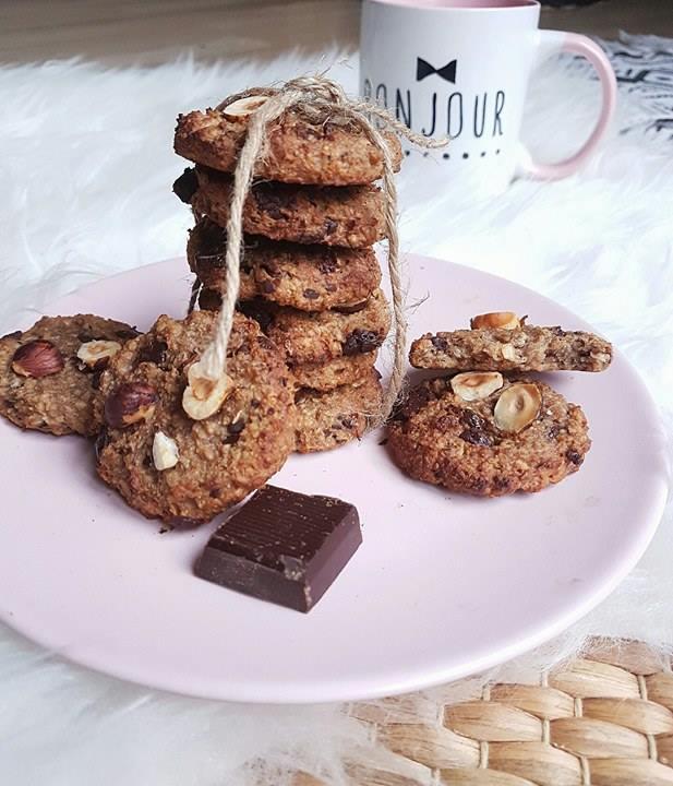 Petits moelleux façon cookies banane et flocons d'avoine