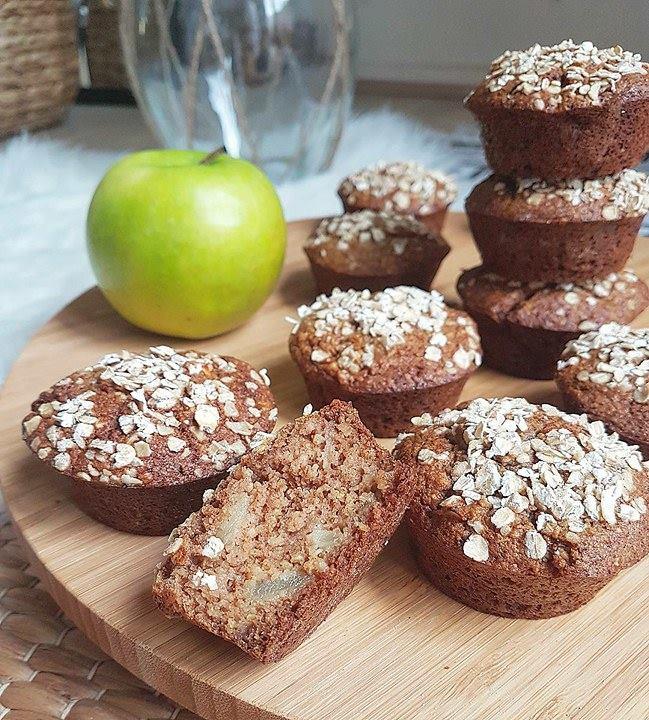 Muffins extra moelleux pommes et flocons d'avoine
