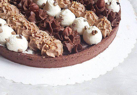 Tarte brownie chocolat praliné