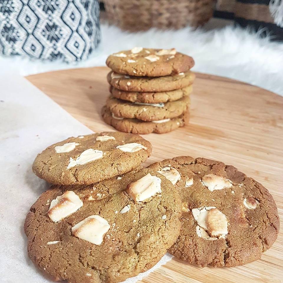 Cookies au thé matcha et chocolat blanc sains et sans gluten
