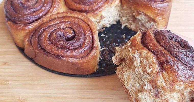 Cinnamon rolls (pains à la cannelle), healthy et vegan