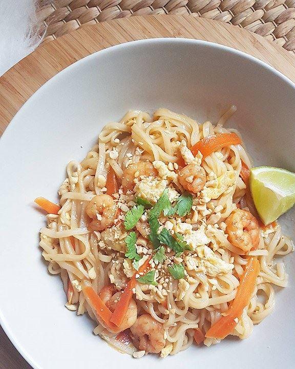 Pad thaï crevettes (déclinable poulet, boeuf ou végétarien)