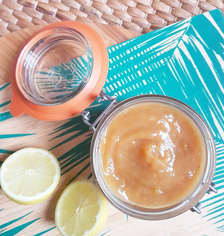 Lemon curd à tartiner healthy, sans beurre au sucre complet