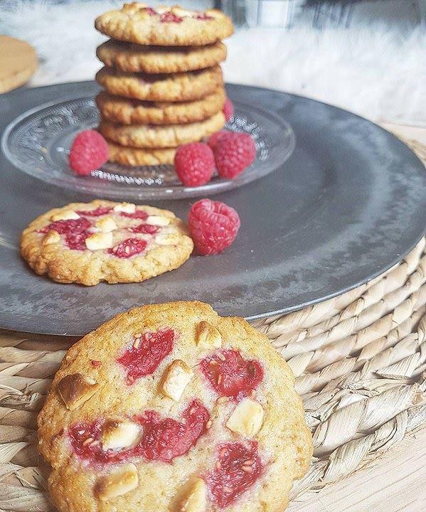 Cookies framboises chocolat blanc (healthy et vegan)