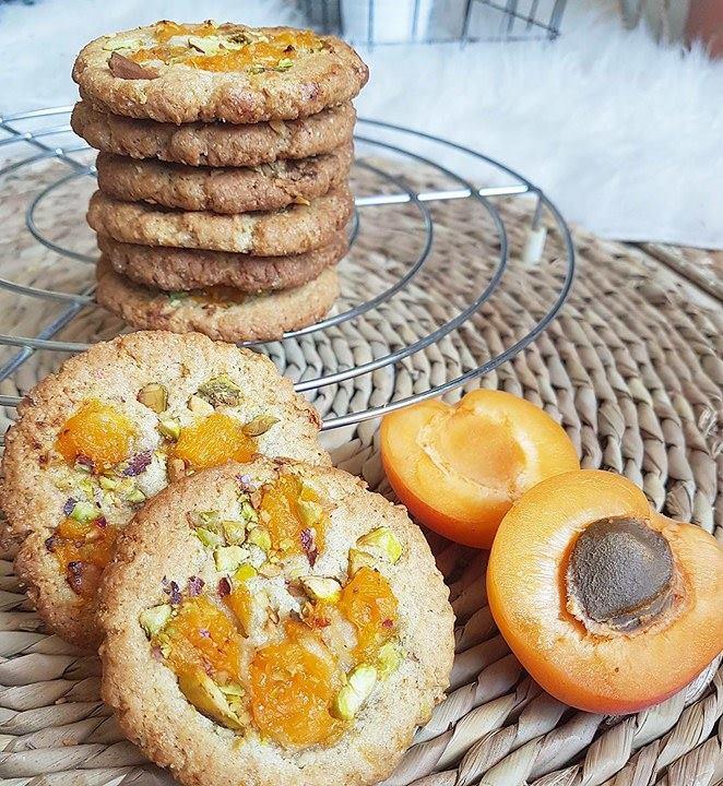 Cookies abricot pistache (healthy et vegan)
