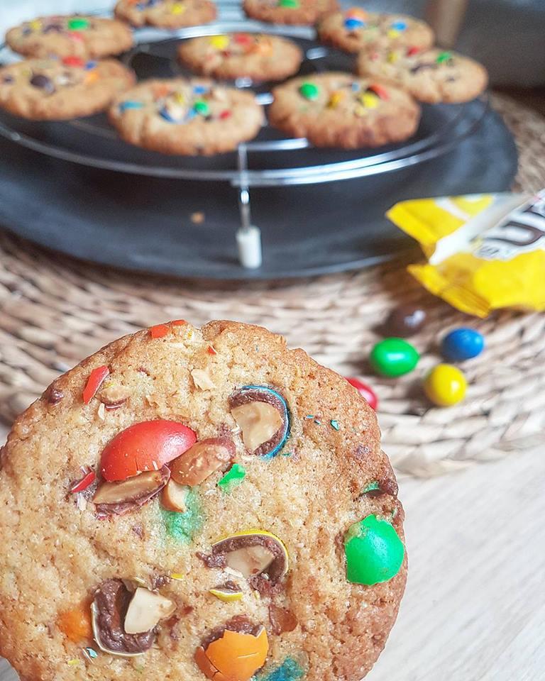 Cookies aux m&m's, allégés en sucre (non raffiné) et en matières grasses, sans beurre