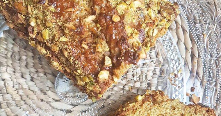 Cake pistache, miel et huile d'olive sans sucres ajoutés