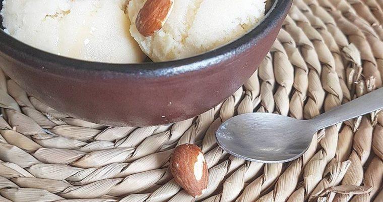 Glace/sorbet miel amandes sans sucres ajoutés (en sorbetière)