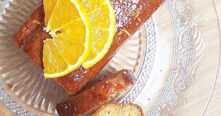 Cake à la marmelade d'orange, miel et huile d'olive (sans sucres ajoutés et sans beurre)