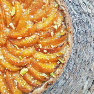 tarte aux abricots crème d amande et pistache sans beurre ni