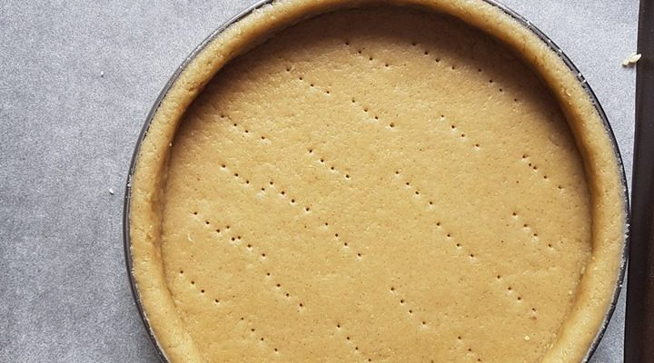 Pâte à tarte sablée amande et vanille sans beurre, saine et vegan