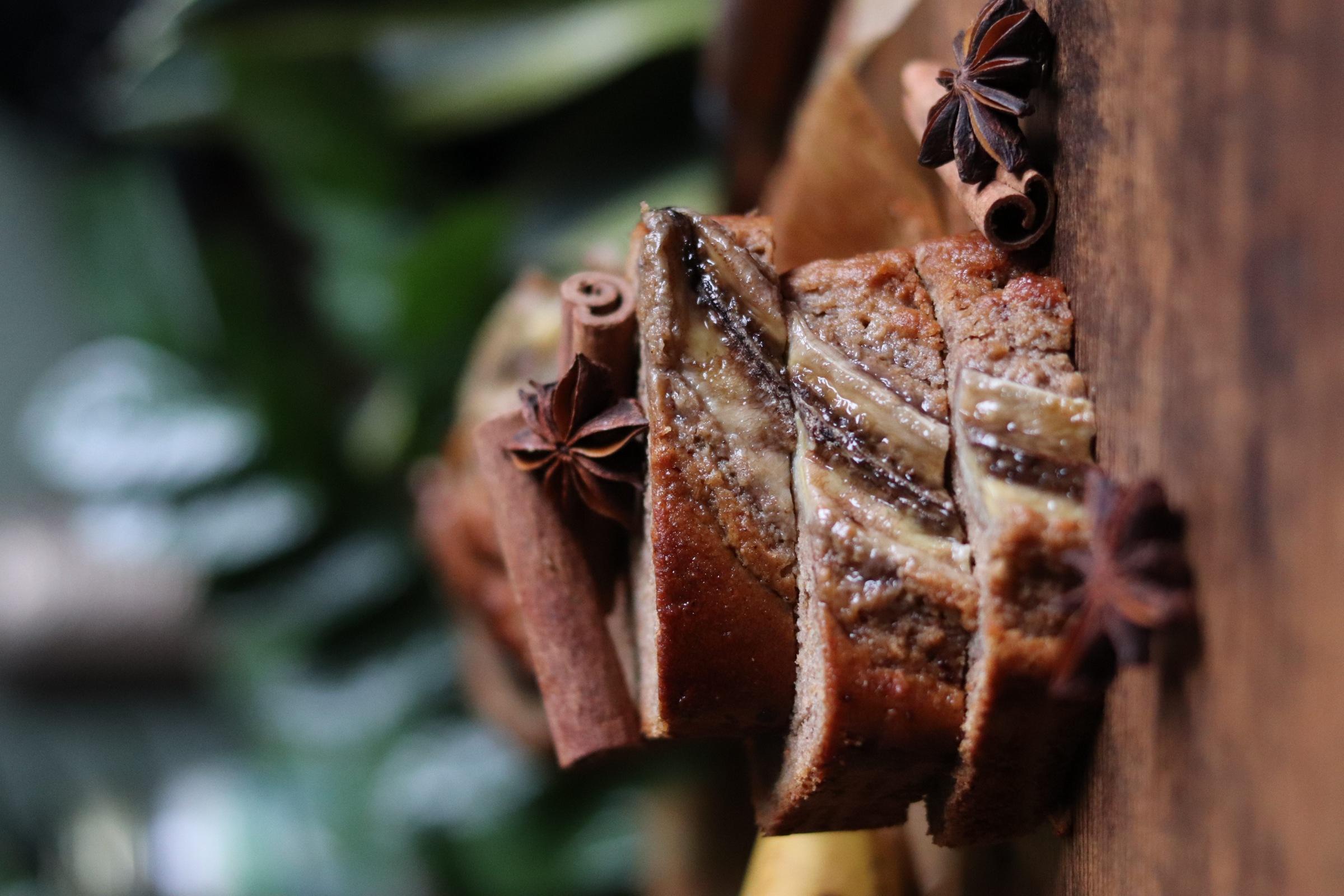 Banana bread vegan façon pain d'épices (épicé ou nature), sans MG ajoutées