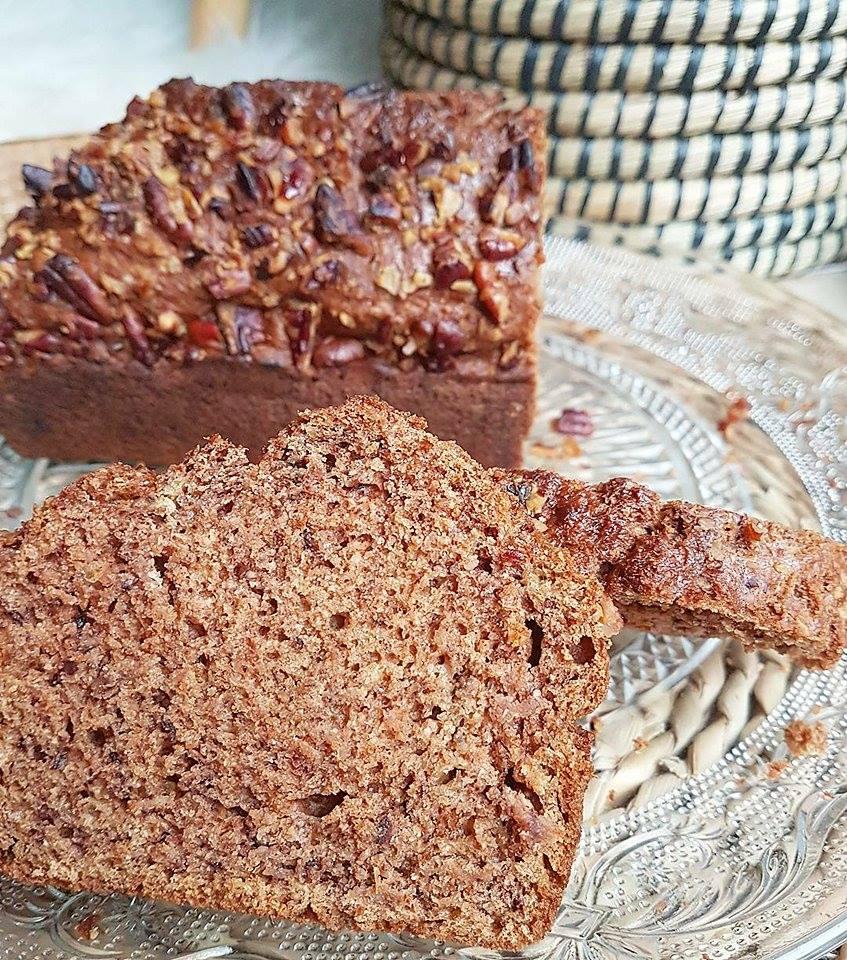 Banana bread comme un cake sans matières grasses ajoutées sain et vegan (façon pain d'épices ou non)
