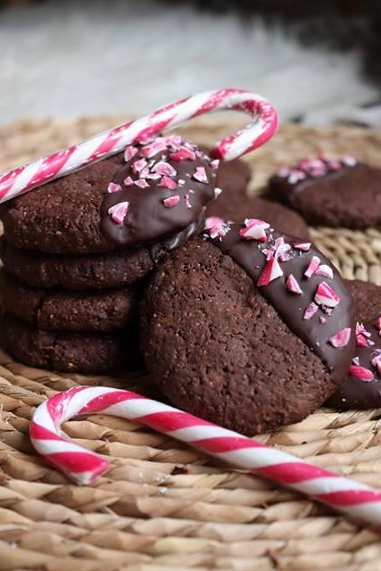 Peppermint Cookies ou cookies de Noël chocolat et menthe poivrée (vegan et healthy)