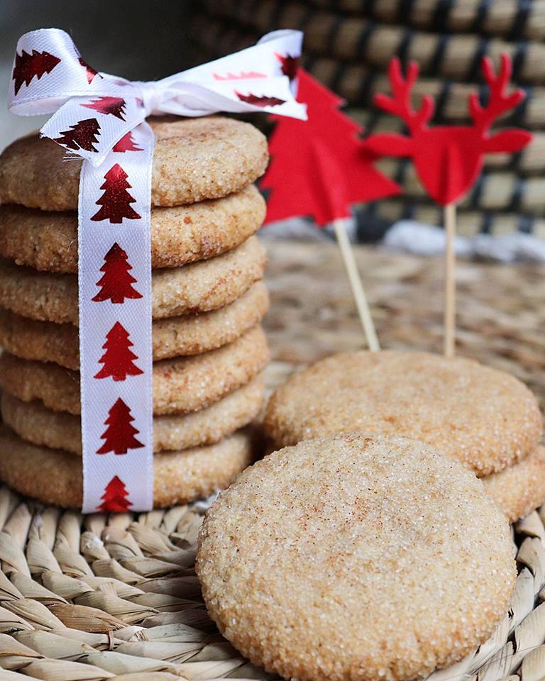 Snickerdoodles (biscuits de Noël à la cannelle) healthy et vegan