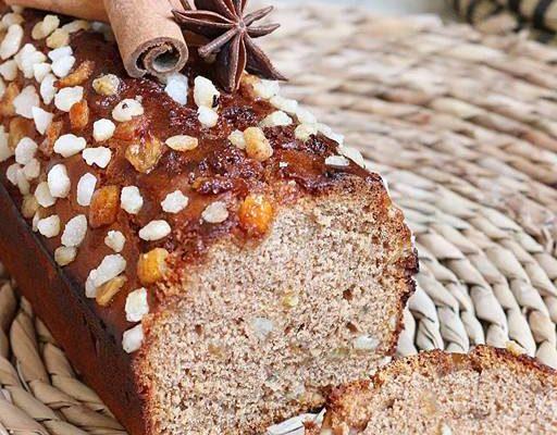 Pain d'épices au miel et écorces d»oranges confites (sans sucres ajoutés, sans matières grasses)