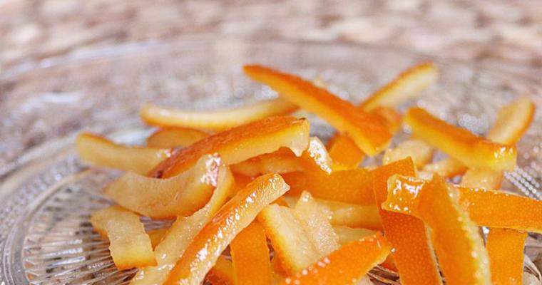 écorces d'orange confites maison
