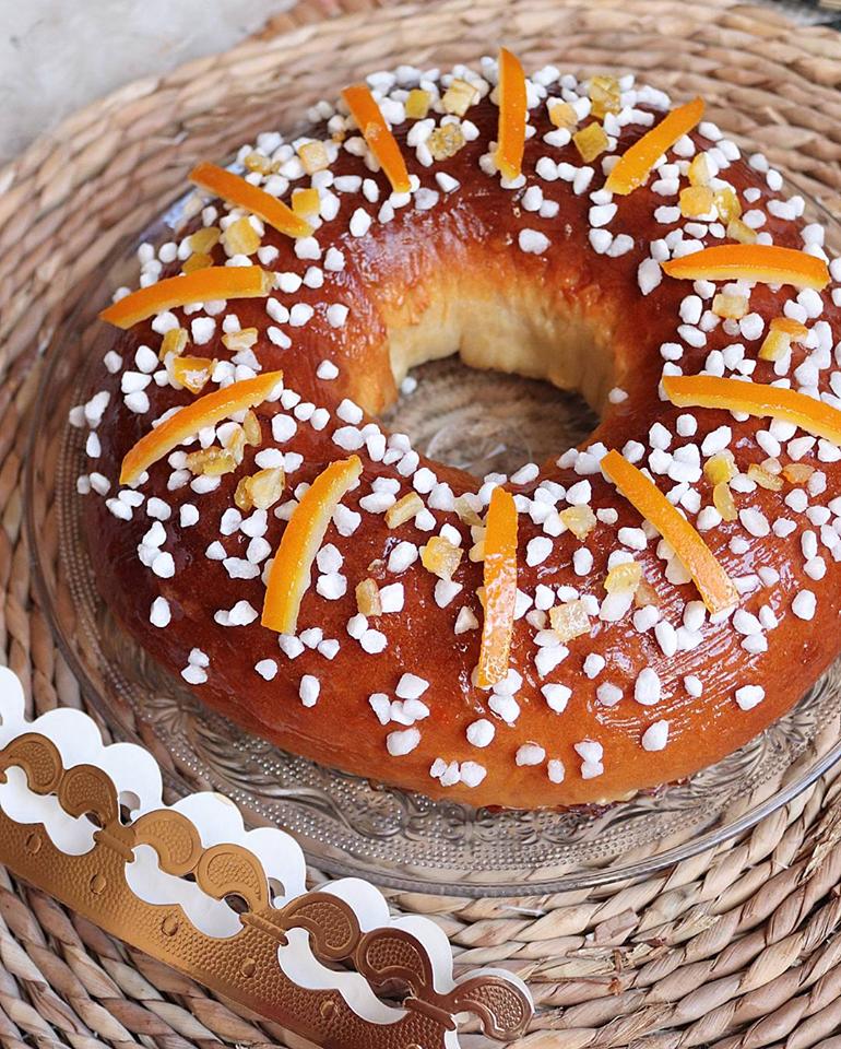 Brioche des rois ou gâteau des rois vegan (sans beurre, à l'huile d'olive)