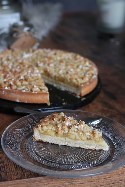 Tarte crumble aux pommes et crème d'amande