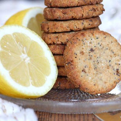 Cookies citron, graines de pavot et huile d'olive, sans gluten, vegan, à faible teneur en matière grasse