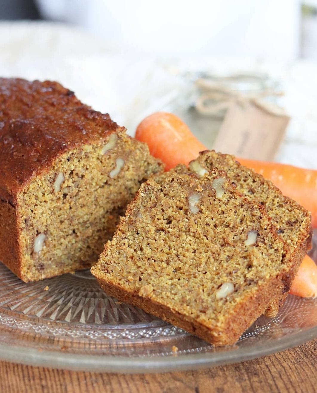Carrot cake banana bread vegan et sans matières grasses
