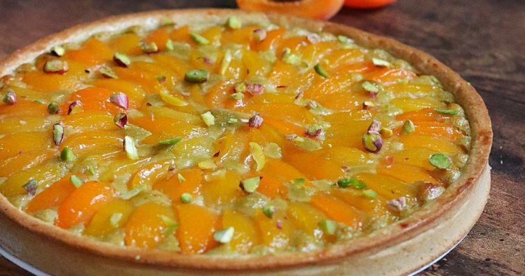 Tarte abricots et crème d'amande à la pistache