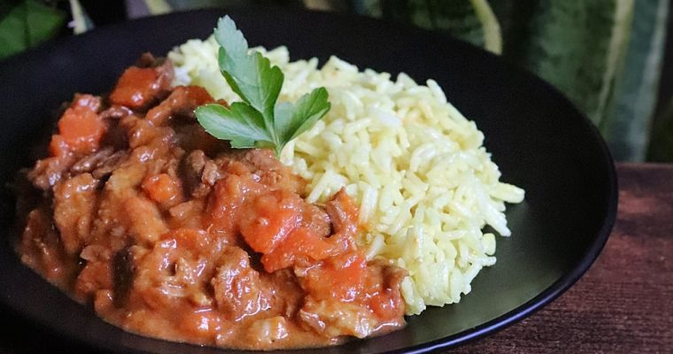 Curry de boeuf carottes madras