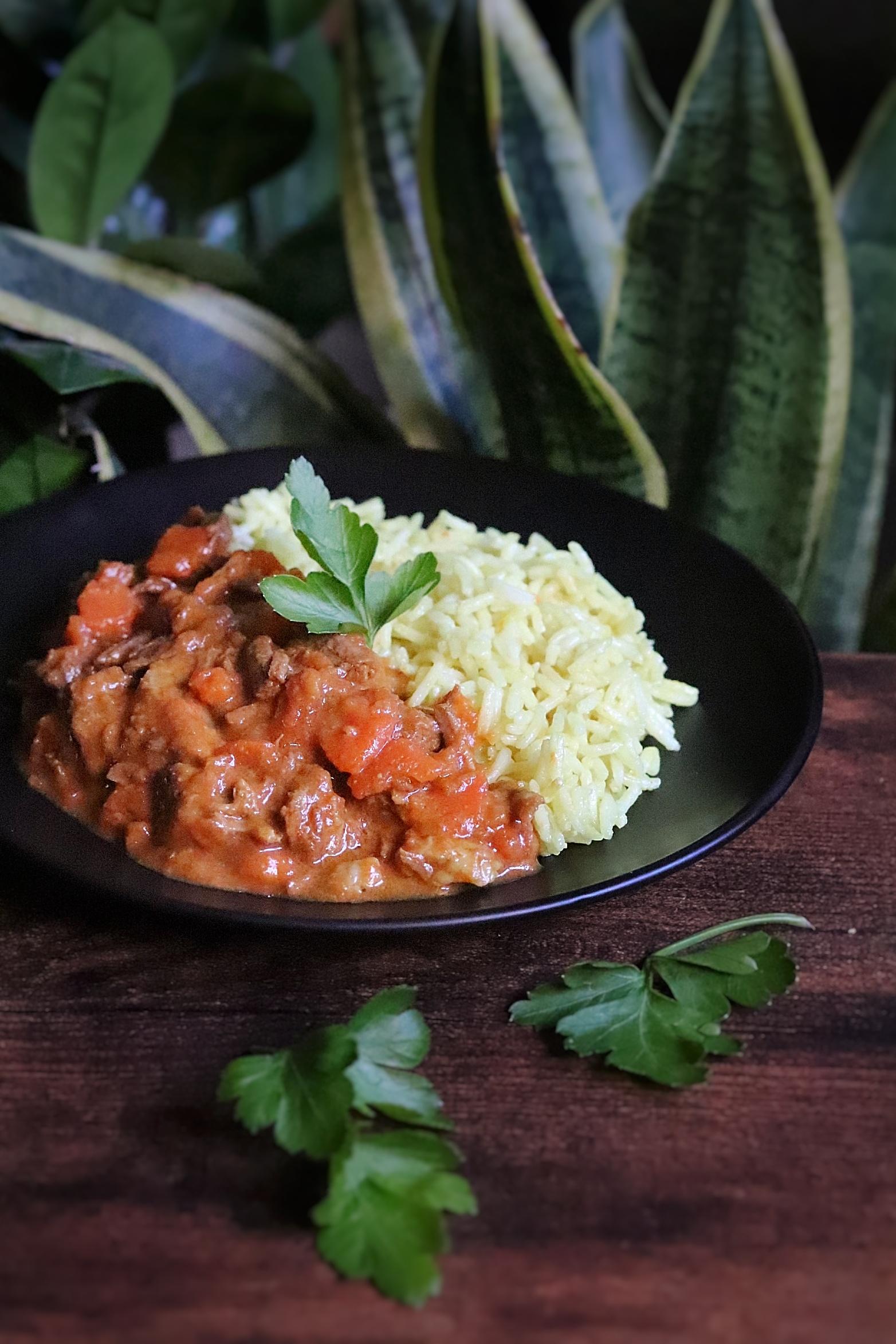 Curry de boeuf carottes madras