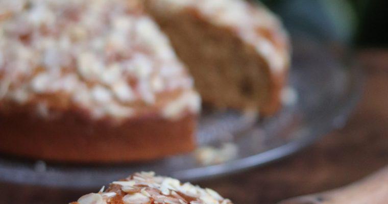 Gâteau à l'amande, avoine et fleur d'oranger sans MG ajoutées et sans lactose